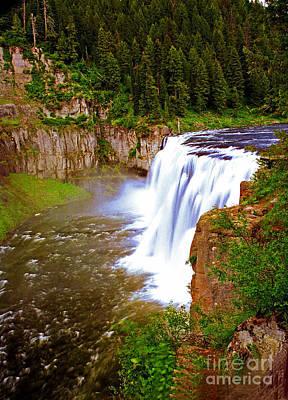 Polaroid Camera - Upper Mesa Falls Warm River  Idaho by Rich Walter