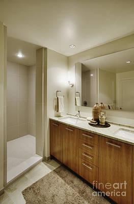 Upscale Photograph - Upscale Bathroom Interior by Andersen Ross