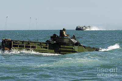Olympic Sports - U.s. Marines Drive An Amphibious by Stocktrek Images
