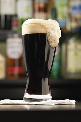 Usa, Illinois, Metamora, Beer Mug With Dark Beer Print by Vstock LLC