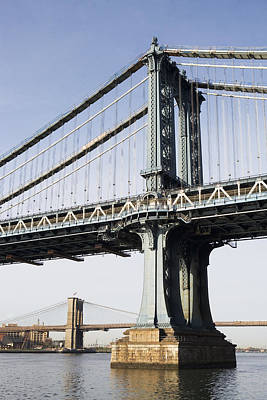 Y120907 Photograph - Usa, New York, New York City, Manhattan, Brooklyn Bridge by Fotog