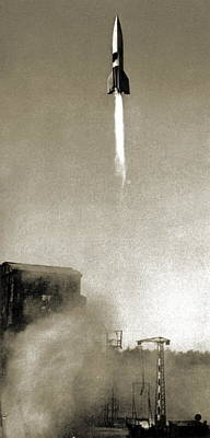 V2 Rocket Photograph - V-2 Prototype Rocket Launch, 1942 by Detlev Van Ravenswaay