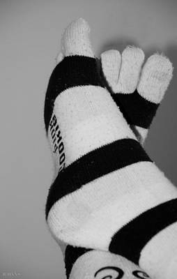 Photograph - Val's Feet In Black And White by Rob Hans