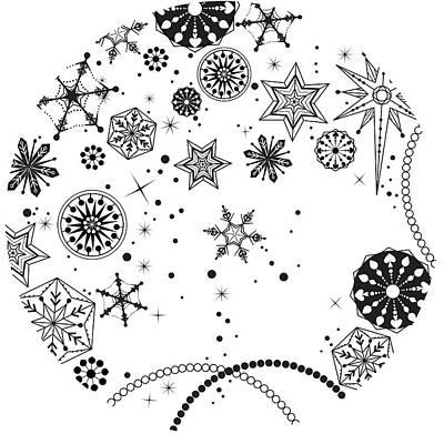 Circling Digital Art - Various Plants Patterns by Eastnine Inc.