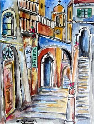 Vecchio Vicolo A Trastevere Art Print