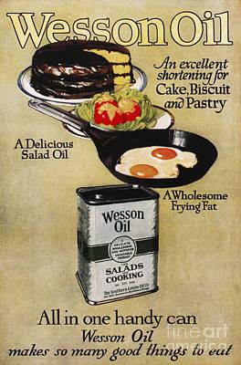 Vegetable Oil Ad, 1918 Art Print