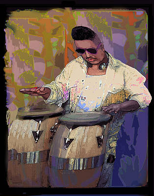 Venice Beach Drummer Art Print by Alice Ramirez