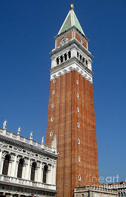 Venice Italy - Saint Marks Campanile Art Print by Gregory Dyer