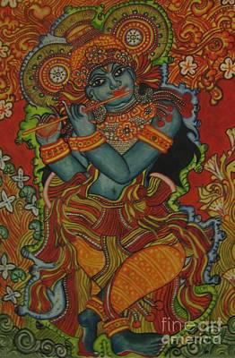 Gopala Painting - Venugopala by Deepa Padmanabhan