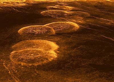 Magellan Probe Photograph - Venus, Synthetic Aperture Radar Map by Detlev Van Ravenswaay