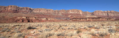 Art Print featuring the photograph Vermillion Cliffs Panorama by Bob and Nancy Kendrick