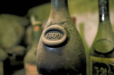 Paris Wine Bottles Photograph - Very Old Wine by Carl Purcell