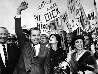 Vice President Richard Nixon And Wife Print by Everett