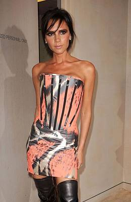 At In-store Appearance Photograph - Victoria Beckham Wearing A Giles Dress by Everett