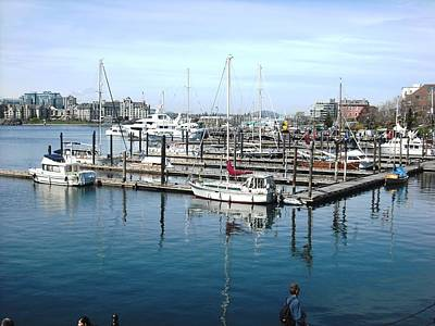 Photograph - Victoria Inner Harbour by Kelly Manning