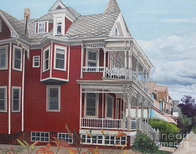 Painting - Victorian Afternoon Cape May by Barbara Barber
