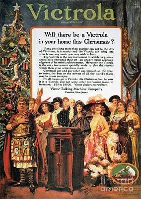 Victrola Advertisement Art Print by Granger