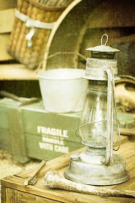 Kerosene Lamp Photograph - Vintage Lamp by Tom Gowanlock