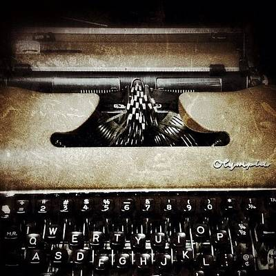 Typewriter Wall Art - Photograph - Vintage Olympia Typewriter by Natasha Marco