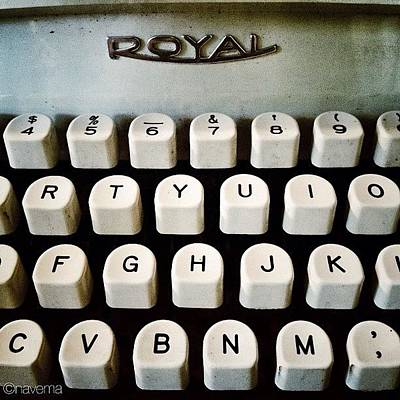Typewriter Wall Art - Photograph - Vintage Royal Typewriter by Natasha Marco