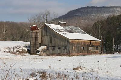Vintage Weathered Wooden Barn Art Print