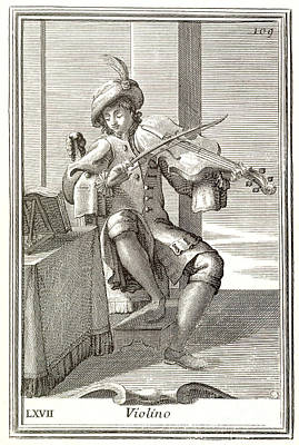 1723 Photograph - Violin, 1723 by Granger