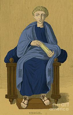 Virgil, Roman Poet Art Print by Photo Researchers