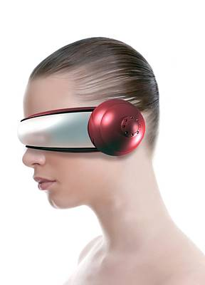 Virtual Reality Headset Art Print by Victor Habbick Visions