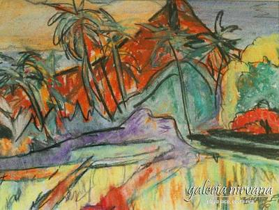 Volcan Rojo 98 Print by Bradley Bishko