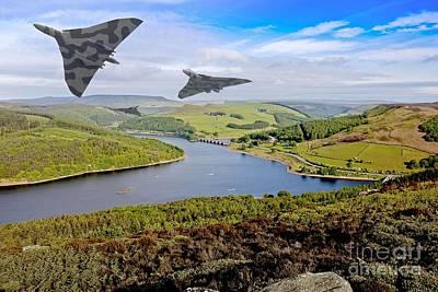 Vulcan Thunder In The Valley Art Print by Martin Jones