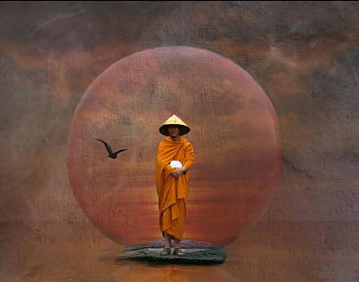 Waiting Monk Art Print