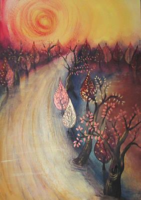 Yasmin Modi Painting - Walk With Me by Yasmin  Modi