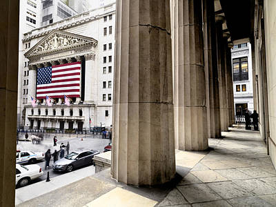 Wall Street And The New York Stock Art Print by Justin Guariglia