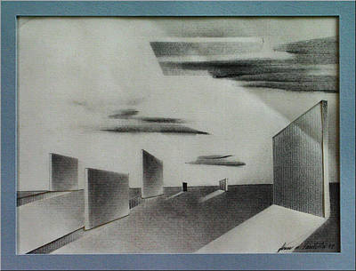 Drawing - Wallcomp 1978 by Glenn Bautista