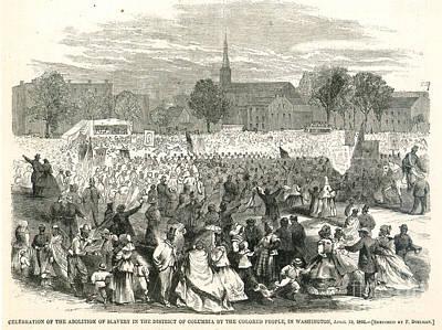 Washington: Abolition, 1866 Art Print by Granger