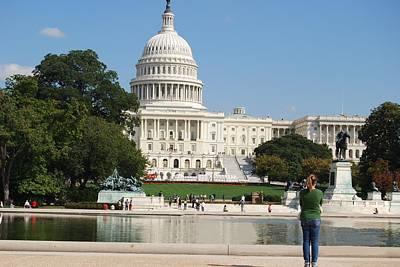 Washington Dc Capitol  Art Print by Lissandra Melo