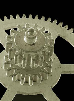 Watch Gears, Sem Art Print by Steve Gschmeissner