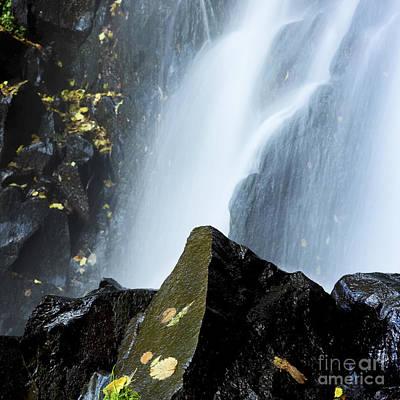 Waterfall In Auvergne Art Print by Bernard Jaubert