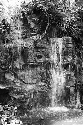 Photograph - Waterfall In Black And White by Bruce Bley