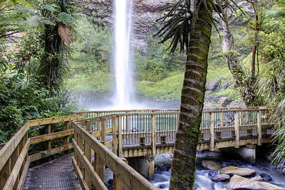 Lush Photograph - Waterfall by Les Cunliffe