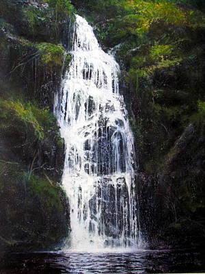 Painting - Waterfall by Milan Melicharek
