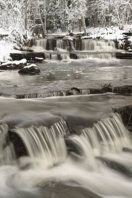 Waterfalls With Fresh Snow Thunder Bay Art Print by Susan Dykstra