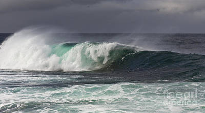 Ocean Photograph - Wave At The Barents Sea Coast by Heiko Koehrer-Wagner