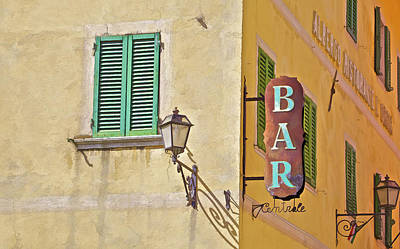 Photograph - Weathered Rustic Metal Bar Sign by David Letts
