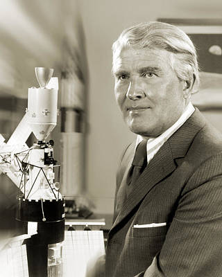 V2 Rocket Photograph - Wernher Von Braun, German Rocket Pioneer by Nasavrs
