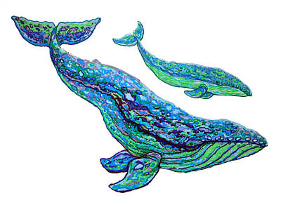 Whale Drawing - Whales by Nick Gustafson