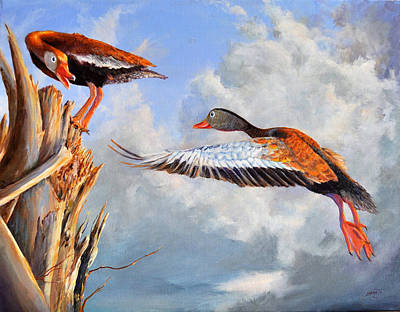 Bird Painting - What Are You Whistling At by AnnaJo Vahle