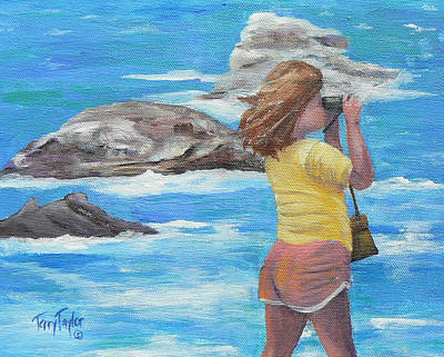 Malibu Painting - What's Out There by Terry Taylor