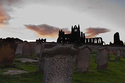 Whitby Abbey At Sunrise Art Print by Gary Finnigan