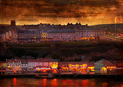 European City Digital Art - Whitby by Svetlana Sewell